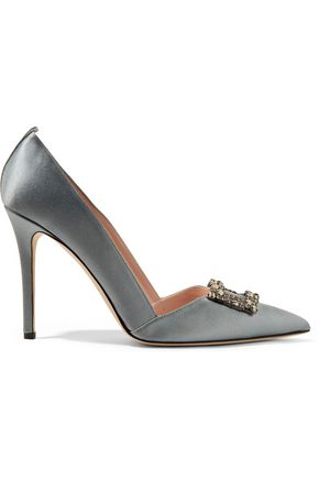 SJP by SARAH JESSICA PARKER Windsor embellished satin pumps