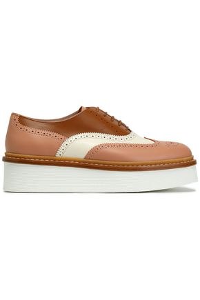TOD'S Perforated leather platform brogues