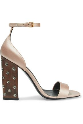 STELLA McCARTNEY Crystal-embellished satin sandals