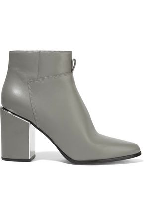 KENZO Mirror-trimmed leather ankle boots