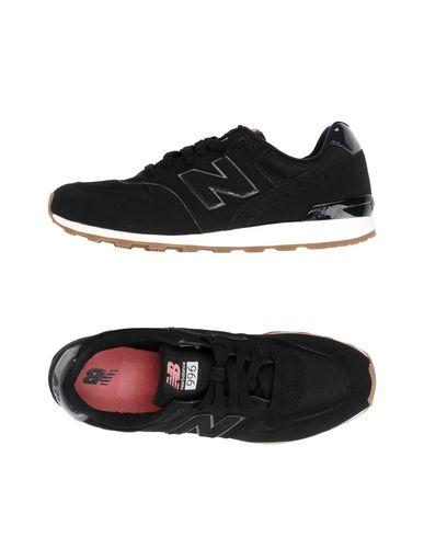 NEW BALANCE レディース スニーカー&テニスシューズ(ローカット) ブラック 6 紡績繊維 996 SYNTHETIC NUBUCK PATENT DETAILS