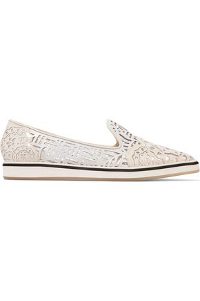 NICHOLAS KIRKWOOD Laser-cut leather loafers