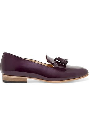 DIEPPA RESTREPO Tasseled patent-leather slippers