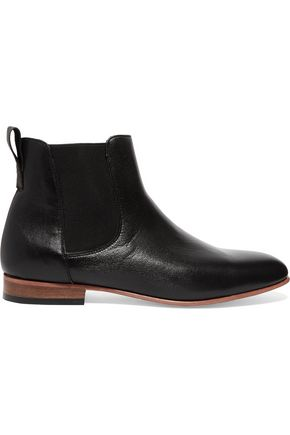 DIEPPA RESTREPO Troy textured-leather ankle boots