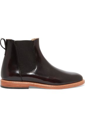 DIEPPA RESTREPO Glossed-leather ankle boots