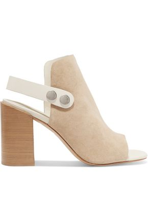 RAG & BONE Studded leather-trimmed suede sandals