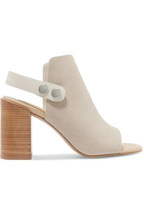 RAG & BONE Leigh leather-trimmed canvas sandals