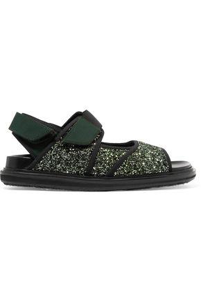 MARNI Glittered neoprene sandals