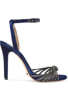 SCHUTZ Knotted leather and suede sandals