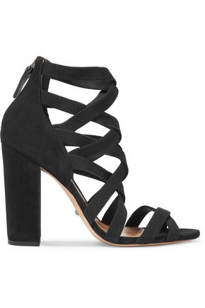 SCHUTZ Lace-up suede sandals