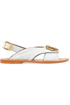 MARNI Embellished calf hair sandals