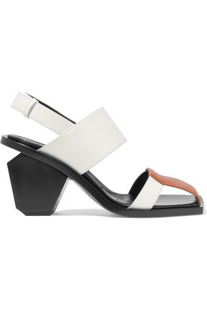 MARNI Graphic paneled leather sandals