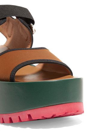 4ed38aebc36 ... MARNI Color-block woven platform sandals ...