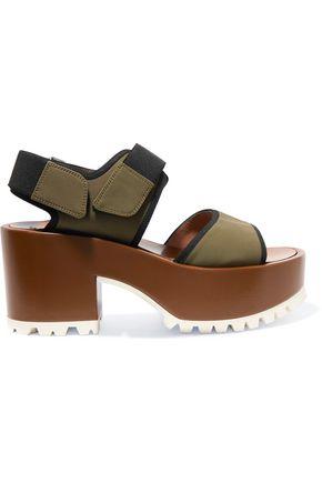 MARNI Woven-trimmed neoprene platform sandals