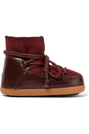 INUIKII Shearling-lined leather and suede boots