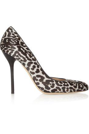 GUCCI Leopard-print calf hair pumps