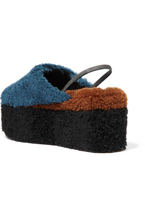fast delivery sale online release dates cheap price Fendi Shearling Platform Slippers buy cheap collections sale best wholesale 7Xr2Eqi