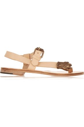 ÁLVARO GONZÁLEZ Adriana embellished leather sandals