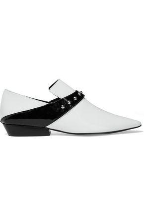 DORATEYMUR Roxy studded patent-leather loafers