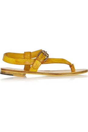 ÁLVARO GONZÁLEZ Crocodile sandals