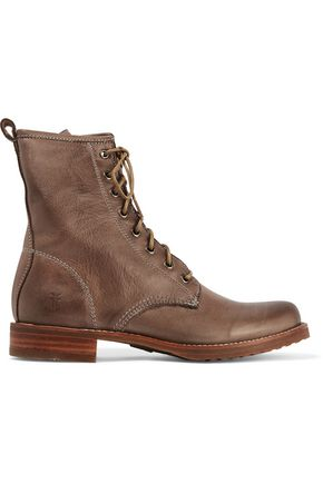 FRYE Veronica Combat leather boots