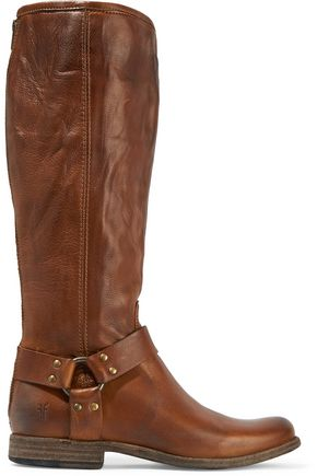 FRYE Phillip Harness Tall leather boots