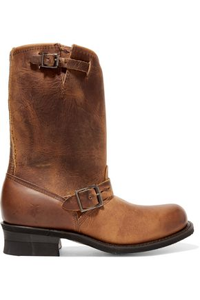 FRYE Engineer 12R buckled leather boots