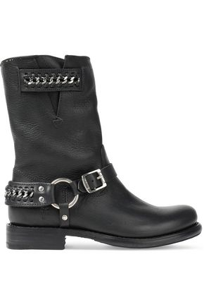 FRYE Jenna chain-embellished leather boots