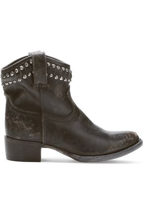 FRYE Diana studded leather boots