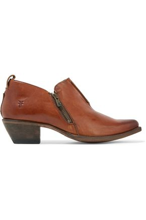 FRYE Sacha Moto leather boots