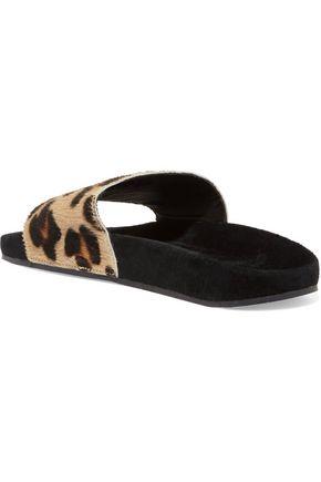 c189c8410ee8 Adilette leopard-print calf hair and suede slides | ADIDAS ORIGINALS ...