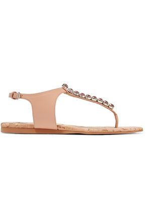 STELLA McCARTNEY Crystal-embellished faux leather sandals