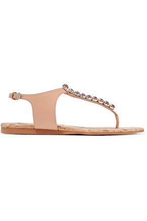 STELLA McCARTNEY Crystal-embellished faux leather sandals