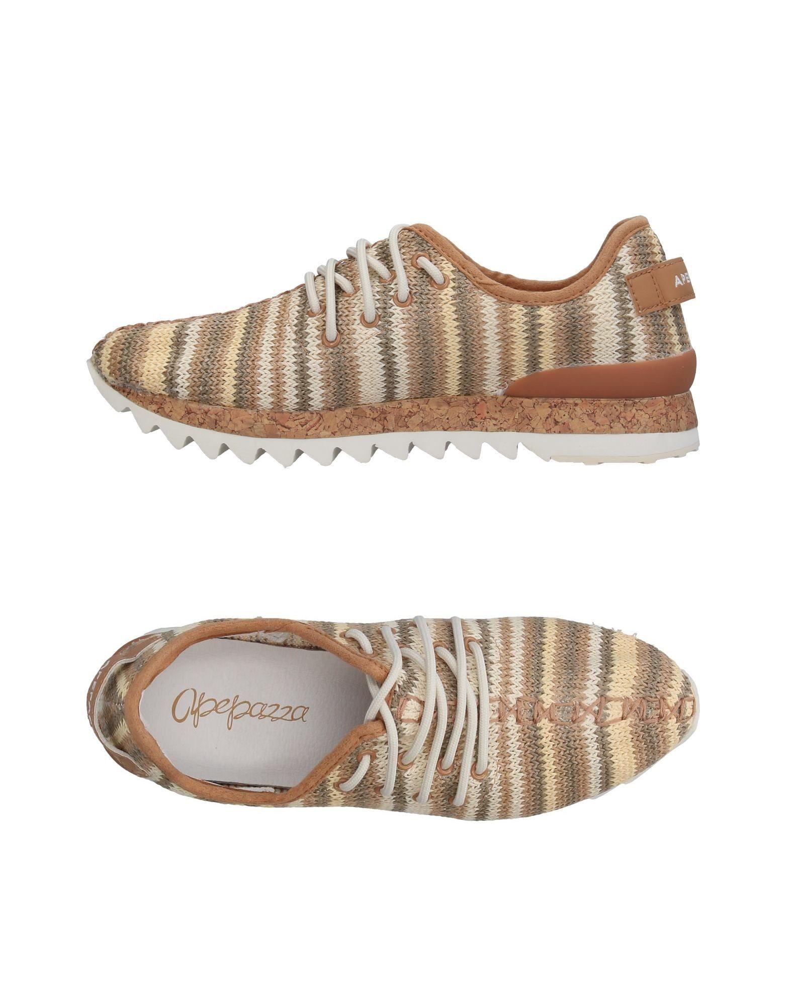 《送料無料》APEPAZZA レディース スニーカー&テニスシューズ(ローカット) ライトブラウン 36 紡績繊維