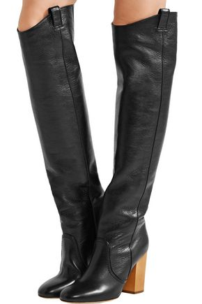 LAURENCE DACADE Silas crinkled-leather over-the-knee boots