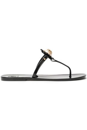 TORY BURCH Embellished rubber sandals