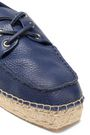TORY BURCH Lace-up leather espadrilles