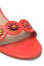 TORY BURCH Marguerite floral-appliquéd laser-cut leather sandals