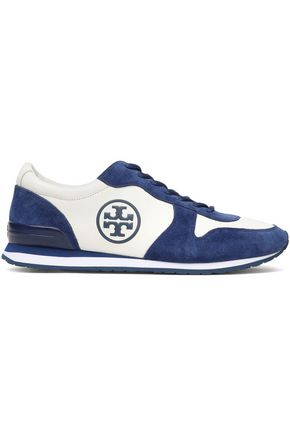 TORY BURCH Two-toned leather and suede sneakers