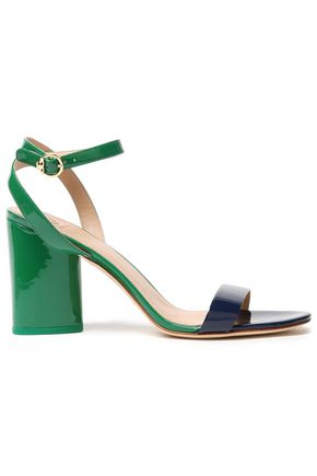 TORY BURCH Elizabeth 2 patent-leather sandals ...
