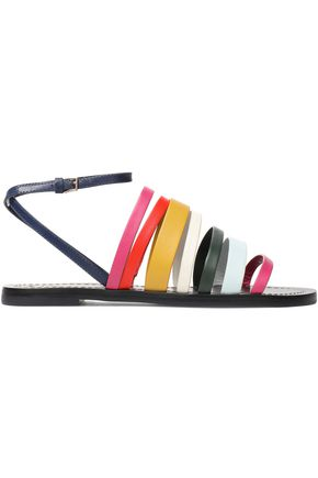 TORY BURCH Color-block leather sandals