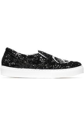 CHIARA FERRAGNI Sequinned sneakers