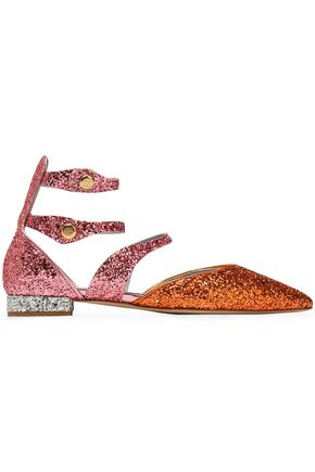 CHIARA FERRAGNI Glittered cutout point-toe flats