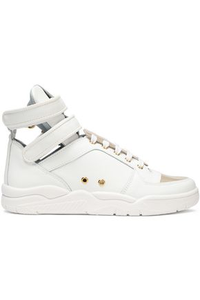 CHIARA FERRAGNI Metallic paneled high-top sneakers