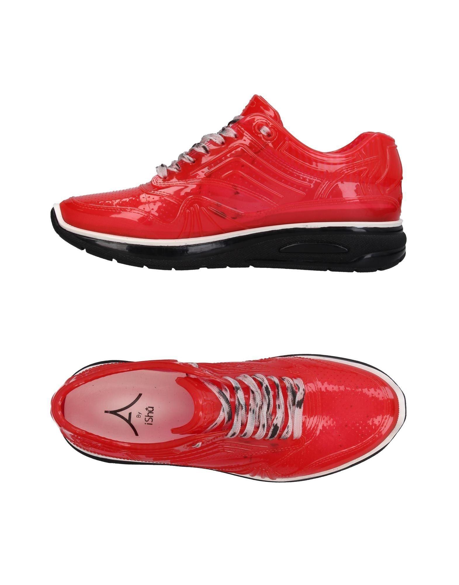 《送料無料》ISHU+ メンズ スニーカー&テニスシューズ(ローカット) レッド 43 ゴム