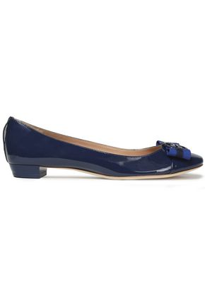 TORY BURCH Embellished patent-leather ballet flats