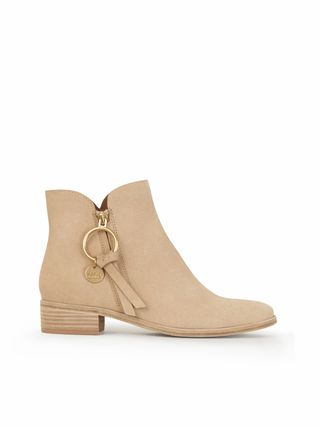 Louise flat ankle boot