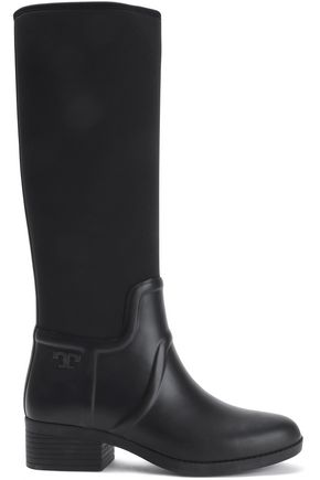 TORY BURCH Neoprene and rubber rain boots