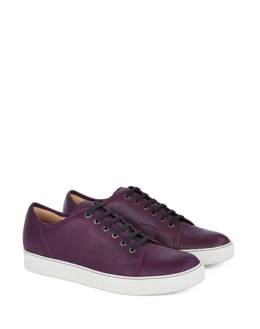 lanvin dbb1 matte calfskin leather sneaker men