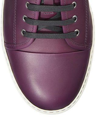 LANVIN DBB1 MATTE CALFSKIN LEATHER SNEAKER Sneakers U e